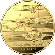 Australia 10 Dollars Heroes of the Sky 2021C Proof in Capsule C 1921 2021 AS ROYAL AUSTRALIAN AIR FORCE coin reverse