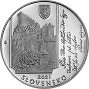 Slovakia 10 Euro 200th anniversary of the birth of Janko Matúška 2021  coin obverse