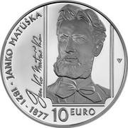 Slovakia 10 Euro 200th anniversary of the birth of Janko Matúška 2021  coin reverse