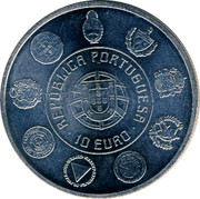 Portugal 10 Euro 2010 INCM Proof KM# 803a Euro coinage coin obverse