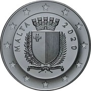 Malta 10 Euro 50th Anniversary of the Armed Forces 2020 ☤ MALTA 2020 coin obverse