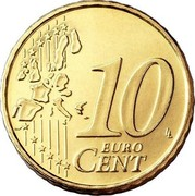 Portugal 10 Euro Cent First Map 2003 KM# 743 10 EURO CENT LL coin reverse