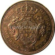 Portugal 10 Reis 1901 KM# 17 Portuguese Administration Provincial coinage coin obverse