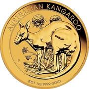 Australia 100 Dollars Kangaroo 2021 P AUSTRALIAN KANGAROO 2021 1 OZ 9999 GOLD coin reverse