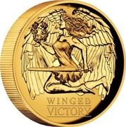 Australia 100 Dollars Winged Victory 2021 P WINGED VICTORY coin reverse