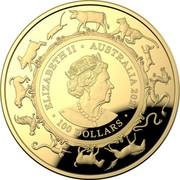 Australia 100 Dollars Year of the Ox 牛 2021 Proof ELIZABETH II AUSTRALIA 2021 100 DOLLARS coin obverse
