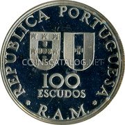 Portugal 100 Escudos 1981 Proof KM# 5a Portuguese Colony Modern coinage coin obverse