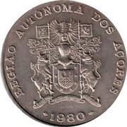 Portugal 100 Escudos Azores Regional Autonomy 1980 KM# 44 REPUBLICA PORTUGUESA AÇORES coin reverse