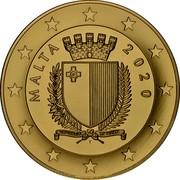 Malta 100 Euro 75th Anniversary of World War II 2020 ☤ MALTA 2020 coin obverse