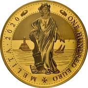 Malta 100 Euro (Melita - National Personification) ONE HUNDRED EURO MELITA 2020 coin reverse