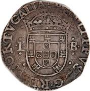Portugal 100 Reis (Tostao) Filipe II ND 30 lettering variations known PHILIPPVS D G REX PORTVGALIA L -B coin obverse