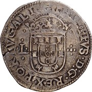 Portugal 100 Reis (Tostao) Filipe II ND KM# 6a PHILIPPVS D G REX PORTVGALIA L - ·:· coin obverse