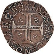 Portugal 100 Reis (Tostao) (Filipe III) IN HOC SIGNO VINCES coin reverse