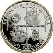 Portugal 1000 Escudos 1998 Proof KM# 713a Republic coin obverse