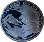 Portugal 1000 Escudos 1999 INCM Proof KM# 721a Republic coin reverse