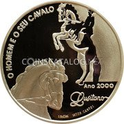 Portugal 1000 Escudos 2000 Proof KM# 727a Republic coin reverse