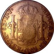 Portugal 1200 Reis Countermark KM# 110 Mexico 1887 KM# 29.8 HISPAN ET IND REX coin reverse
