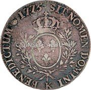 Portugal 1200 Reis (Luis I Countermarked over 1 Ecu)  coin reverse