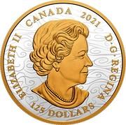 Canada 125 Dollars Triumphant Dragon 2021 ELIZABETH II CANADA 2021 D G REGINA 125 DOLLARS coin obverse