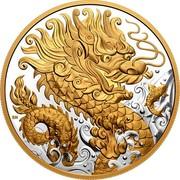 Canada 125 Dollars Triumphant Dragon 2021  coin reverse