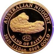 Australia 15 Dollars Hand of Faith 2020P Proof AUSTRALIAN NUGGET 250 HAND OF FAITH P 2020 1/10 OZ 9999 GOLD coin reverse