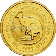 Australia 15 Dollars (Whiptail Wallaby) KM# 234 1/10 OZ. 9999 GOLD THE AUSTRALIAN NUGGET WHIPTAIL WALLABY coin reverse