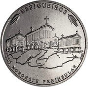 Portugal 2,5 Euro (Granary Houses from Northwest of Portugal) ESPIGUEIROS ISABEL C. F. BRANCO NOROESTE PENINSULAR INCM coin reverse