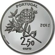 Portugal 2,50 Euro London Olympic Games 2012 KM# 816 PORTUGAL 2012 2,50 EURO INCM - J.J.BRITO coin obverse