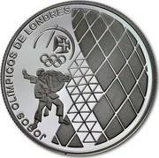 Portugal 2,50 Euro London Olympic Games 2012 KM# 816 JOGOS OLÍMPICOS DE LONDRES coin reverse