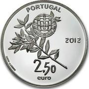 Portugal 2,50 Euro London Olympic Games 2012 Proof KM# 816a PORTUGAL 2,50 EURO 2012 INCM - J.J.BRITO coin obverse