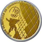 Portugal 2,50 Euro London Olympic Games 2012 Proof KM# 816b JOGOS OLÍMPICOS DE LONDRES coin reverse