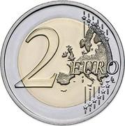 Portugal 2 Euro 150th Anniversary of the Birth of Raul Brandao 2017 INCM KM# 873 2 EURO LL coin reverse