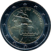 Portugal 2 Euro (500th Anniversary of the First contact between Portugal and Timor.) 1515 PORTUGAL TIMOR 2015 coin obverse