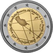 Portugal 2 Euro (600th Anniversary of the Discovery of the Madeira Archipelago) INCM 600 ANOS DO DESCOBRIMENTO DA MADEIRA E DE PORTO SANTO PORTUGAL 2019 coin obverse