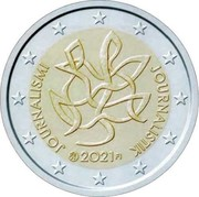Finland 2 Euro Journalism 2021 JOUNARLISMI JOURNALISTIK 2021 FI coin obverse