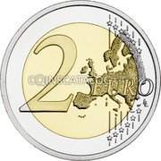 Finland 2 Euro (Journalism) 2 EURO LL coin reverse