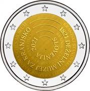 Slovenia 2 Euro The National Museum of Slovenia 2021 SLOVENIJA 2021 KRAINISCHES LANDESMUSEUM RUDOLFINUM 1821 DEŽELNI MUZEJ ZA KRANJSKO KRANJSKI STANOVSKI MUZEJ KRAINISCH STÄNDISCHES MUSEUM coin obverse