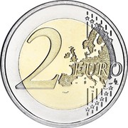Luxembourg 2 Euro (Wedding of Grand Duke Henri and Maria Teresa) 2 EURO LL coin reverse