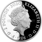 UK 2 Pounds (80th Anniversary of the Battle of Britain) ELIZABETH II D G REG F D 2 POUNDS 2020 J.C coin obverse