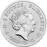 UK 2 Pounds (David Bowie) ELIZABETH II D G REG F D 2 POUNDS J.C coin obverse