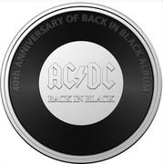 Australia 20 Cents 40th Anniversary of Album Back in Black 2021 40TH ANNIVERSARY OF BACK IN BLACK ALBUM coin reverse