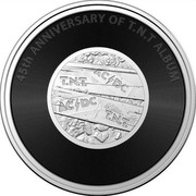 Australia 20 Cents 45th Anniversary of Album T.N.T 2021 ACϟDC T.N.T 45TH ANNIVERSARY OF T.N.T ALBUM coin reverse