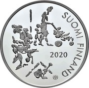 Finland 20 Euro 100 Years of The Mannerheim League for Child Welfare 2020 SUOMI FINLAND 2020 coin reverse