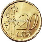 Portugal 20 Euro Cent 2002 KM# 744 Euro coinage coin reverse