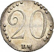Russia 20 kopeks KM# 92 Catherine II Milled Coinage 20 TM coin reverse
