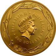 Australia 200 Dollars Australian Kangaroo 2017 P Proof 200 DOLLARS AUSTARLIA ELIZABETH II coin obverse