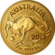 Australia 200 Dollars Australian Kangaroo 2017 P Proof 2017 2 OZ .9999AU AUSTRALIA coin reverse