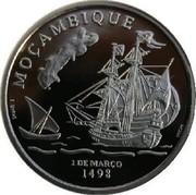 Portugal 200 Escudos Mozambique 1998INCM Proof KM# 711c MOÇAMBIQUE 1 DE MARCO 1498 coin reverse