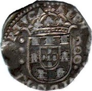 Portugal 200 Reis (1/2 Cruzado) Afonso VI Evora ND KM# 51a ALPHONSVS VI REX PORT .. / 200 coin obverse