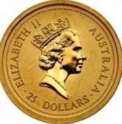 Australia 25 Dollars Australian Nugget 1998 In Sets only 25 DOLLARS AUSTRALIA / ELIZABETH II coin obverse